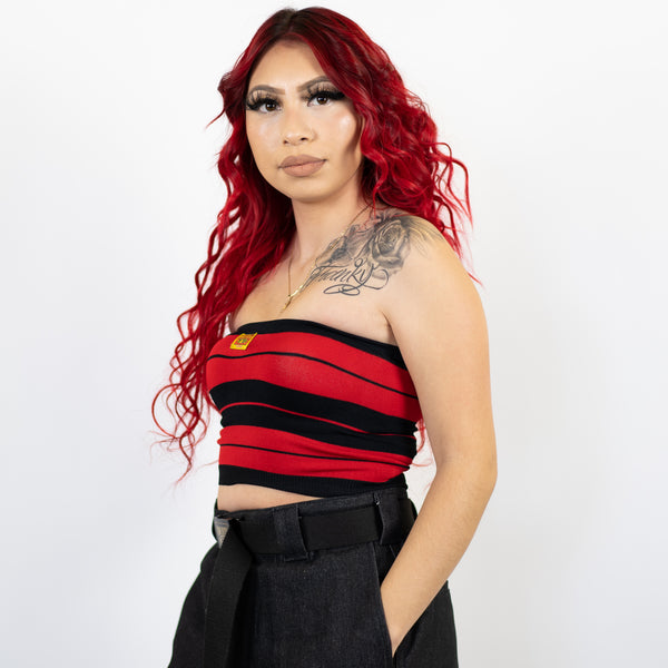 FB County Charlie Brown Tube Top - Black/Red