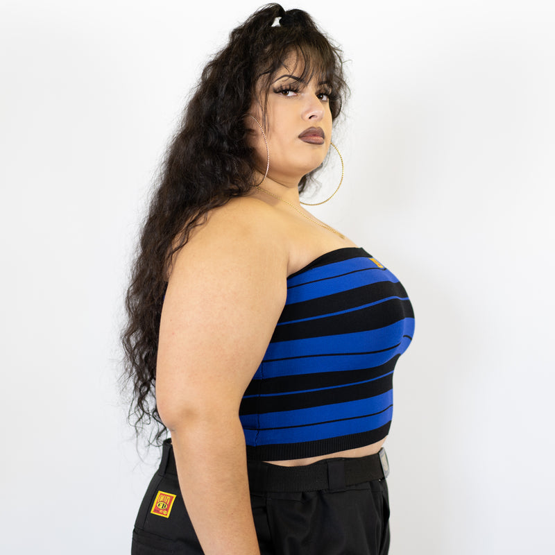 FB County Charlie Brown Tube Top - Black/Royal