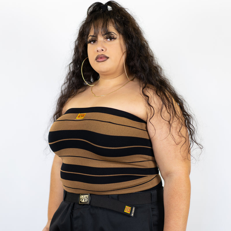 FB County Charlie Brown Tube Top - Black/Tan