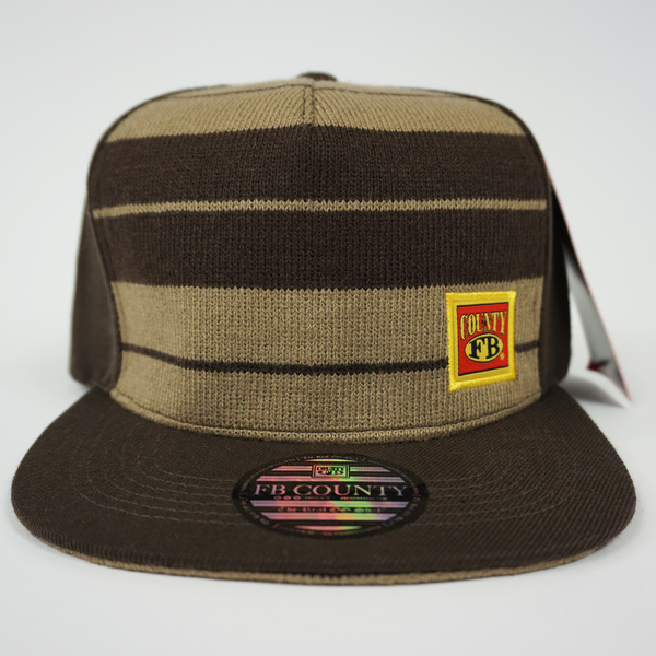 FB County Charlie Brown Cap/Hat Brown/Tan. Flat Bill with FB County Logo. Classic Chicano Style Hat.