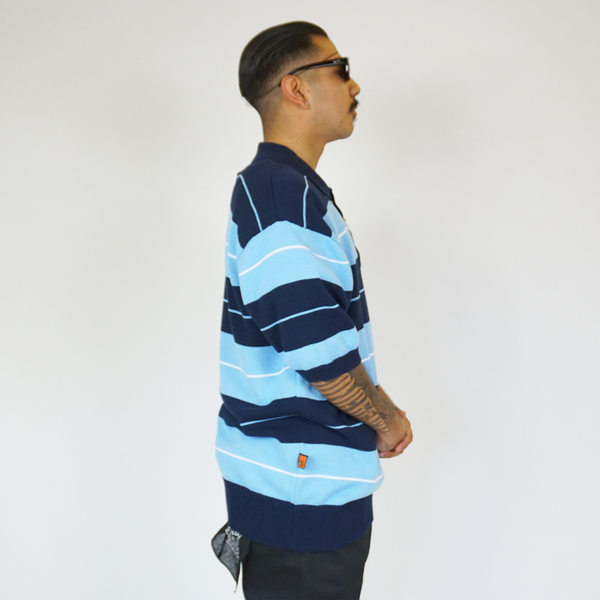 FB County TRILOGY Charlie Brown Shirt Navy/Sky/White