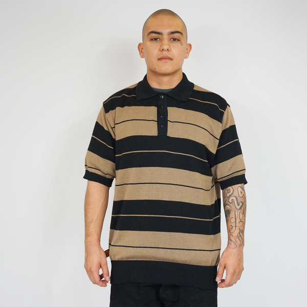 FB County Charlie Brown Shirt Black/Tan for Men and Women. Cholo Style. Lowrider Clothing. Cholo Clothing. Chicano Style. Chicano Clothing.