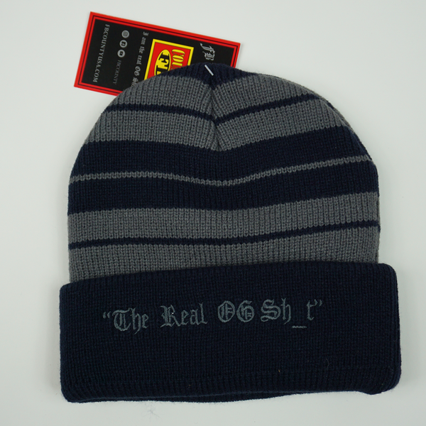 FB County Charlie Brown Beanie - Navy/Grey