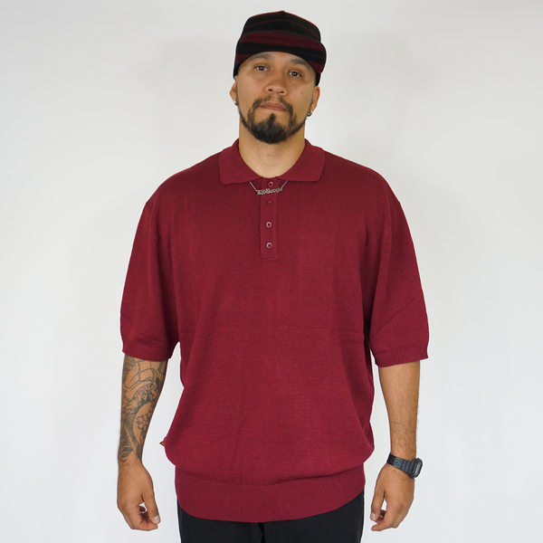NEW FB County Solid Charlie Brown Shirt Burgundy