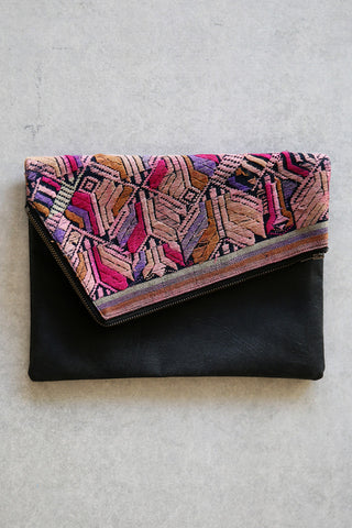 'Harriet' reversible clutch - Black #3
