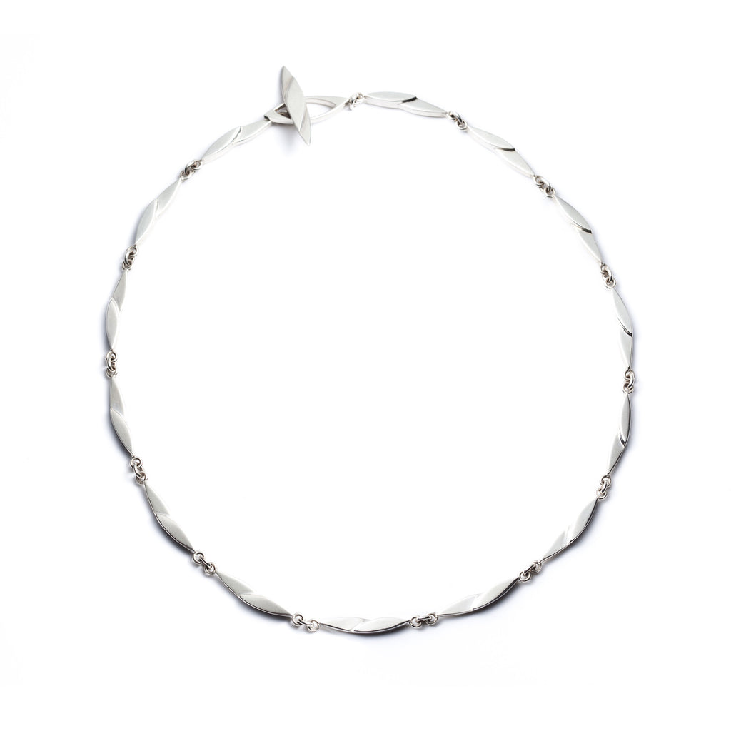 Marquise sterling silver necklace