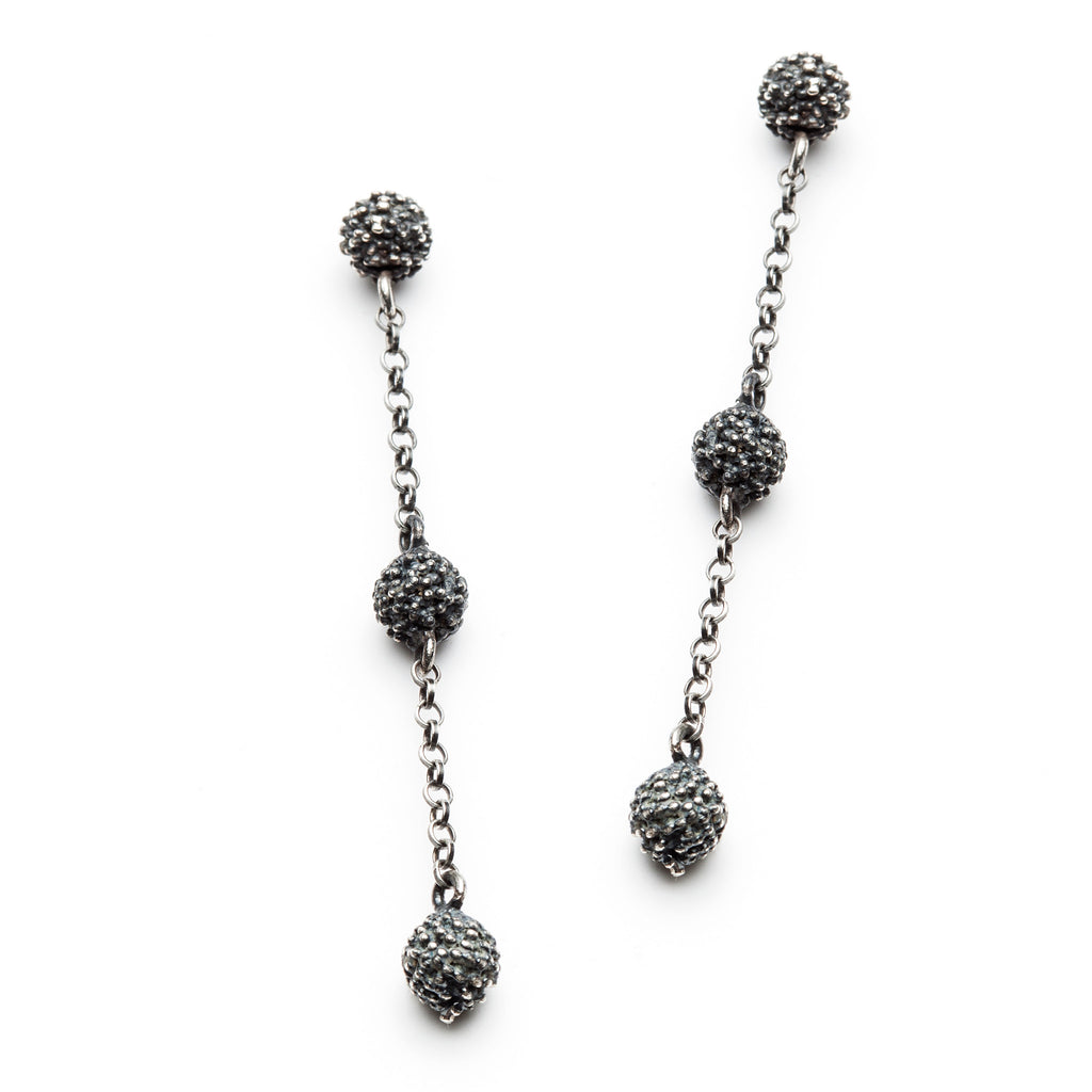 Océan three anemone earring (oxidized)