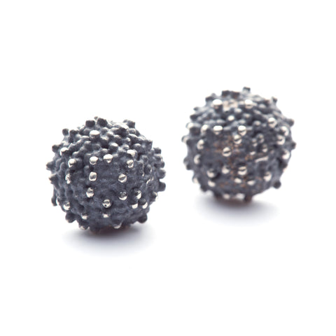Océan sterling silver stud earrings