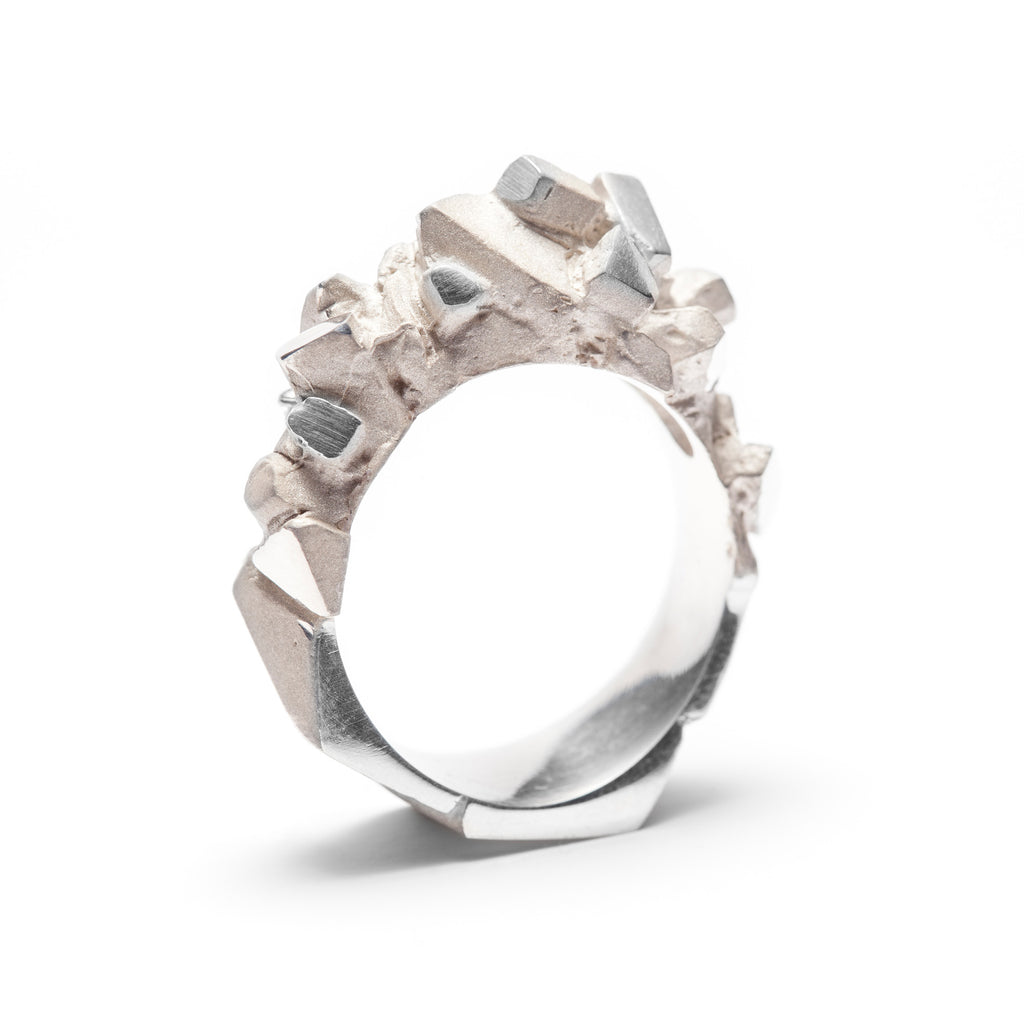Minéral sterling silver ring