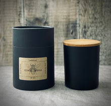 Load image into Gallery viewer, Double wick 300ml Matt black Candle with Bamboo lid