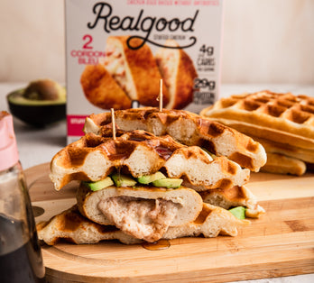 Stuffed Chicken and Waffles Sandwich
