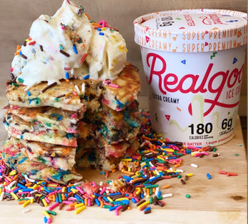 Low Sugar Cake Batter Ice Cream and Funfetti Pancakes!