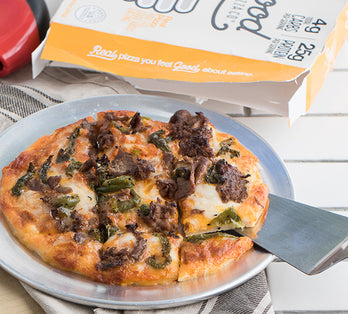 Philly Cheesesteak Chicken Crust Pizza