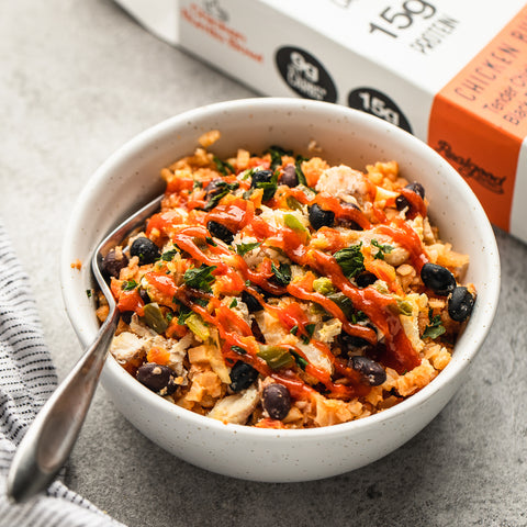 gluten free chicken burrito bowl by real good foods