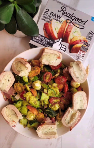 low carb high protein summer salad