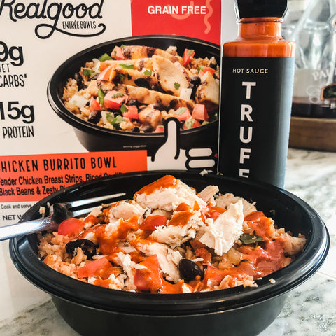 grain free chicken burrito bowl by real good foods