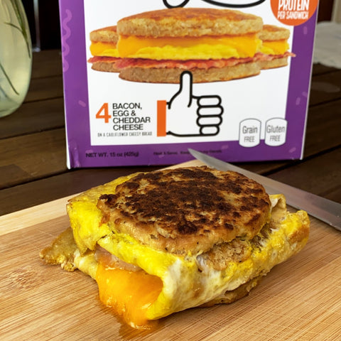 Real Good Foods makes better-for-you frozen breakfast sandwiches