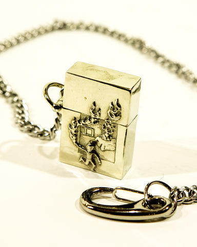 STERLING SILVER LIGHTER WITH CHAIN