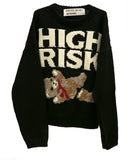 """HIGH RISK"" CREWNECK SWEATER"
