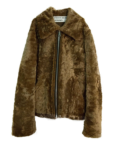 SHEARLING ZIP JACKET