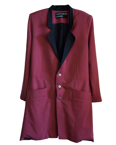 LONG GABARDINE WOOL COAT