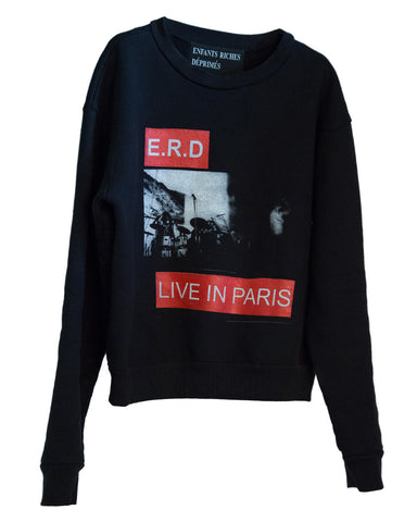 """LIVE IN PARIS"" CREWNECK SWEATSHIRT"