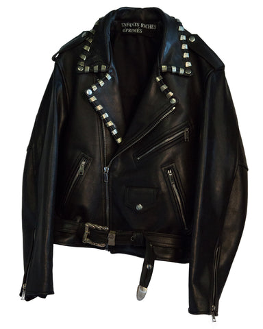 LIGHTER CLIP LEATHER JACKET