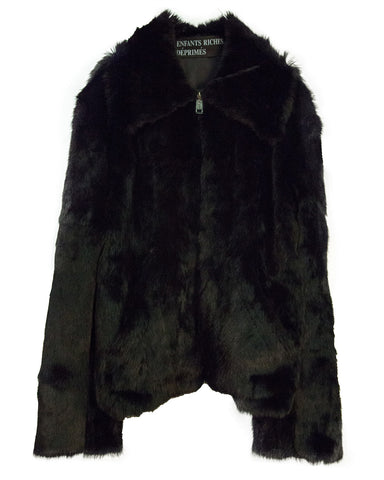 RABBIT FUR ZIP JACKET