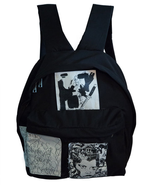 PATCHWORK TWILL BACKPACK