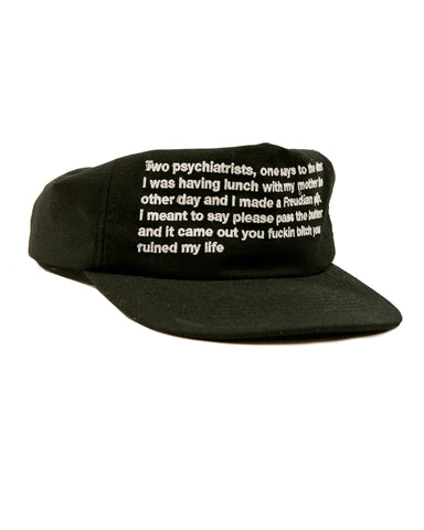 FIVE PANEL JOKE HAT - BLACK