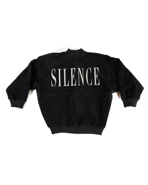 """SILENCE"" CALF SUEDE BOMBER JACKET"