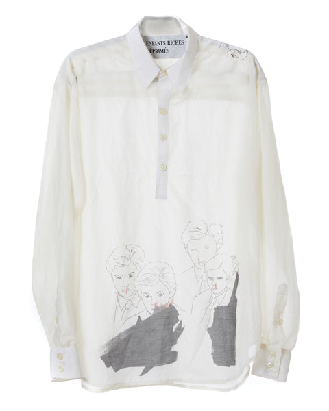 """BARON"" COTTON/SILK SHIRT"