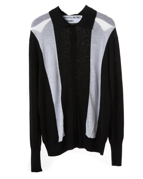 CONTRAST PANEL KNIT POLO