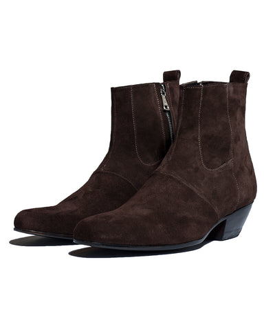 CALF SUEDE HIGH CHELSEA BOOTS