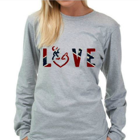 Rebel Flag LOVE Design  T-Shirt