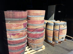 Bulk order of barrel halves palletized and ready to ship.  We can handle your bulk order, too!