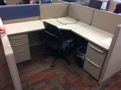 office business cubicle desk reclaimed repurposed