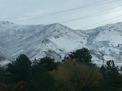 The first snow of 2015 on the Wasatch Front.  That's no reason to avoid deconstruction, though!