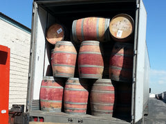 That's a lot of barrels!  We received a 53' trailer full of 'em.