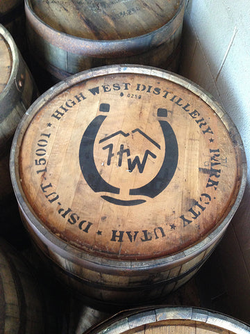 Top of former High West Distillery whiskey barrel. Material Resourcers repurposes materials from industrial & manufacturing companies. Bring us your waste, excess, non-recyclable, by-product, remnant, blemished, cancelled, and expired materials.