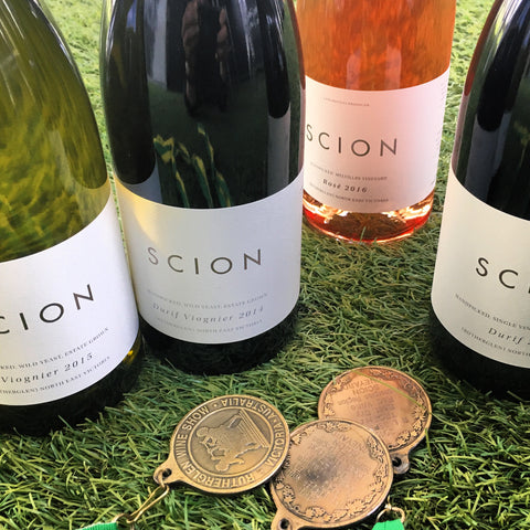 Three gold wine show medals for Scion Vineyard