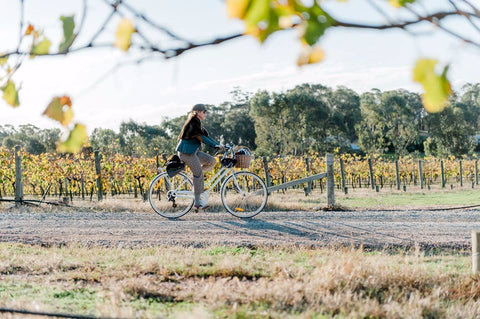 Pedalling through the vines