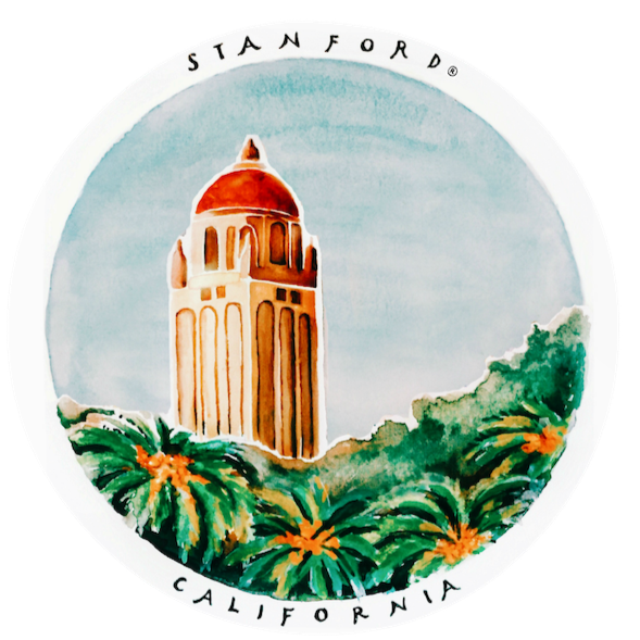 Stanford Hoover Tower Sticker