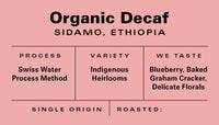 Decaf Ethiopia - Swiss Water Processed - Organic