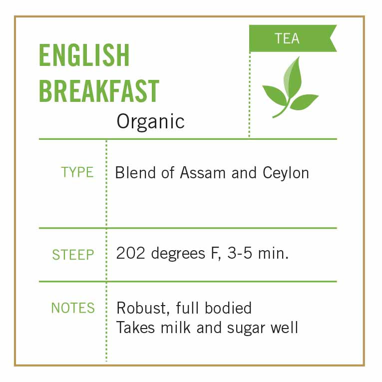 Organic English Breakfast Tea - Vashon Coffee Company