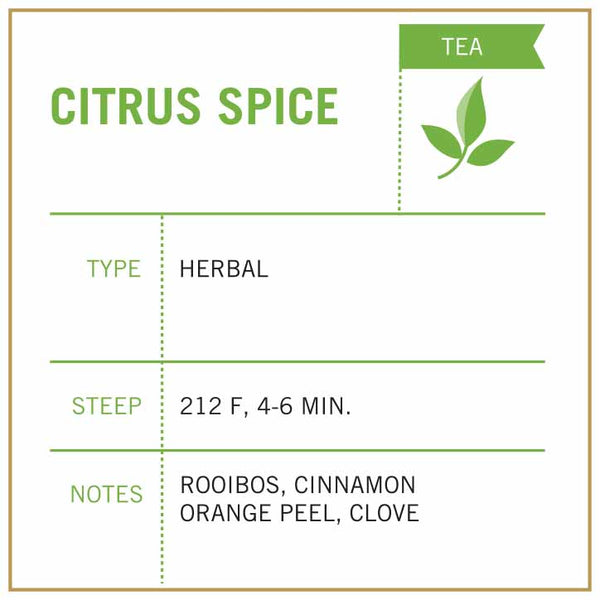Citrus Spice Tea - Vashon Coffee Company