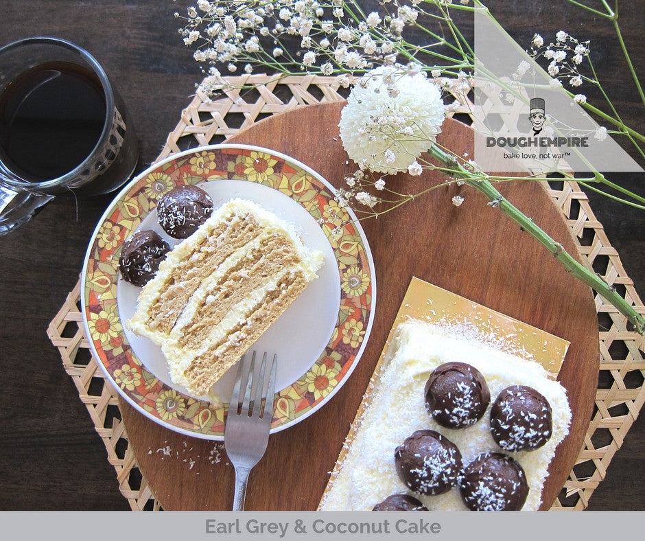 Earl Grey Coconut Cake