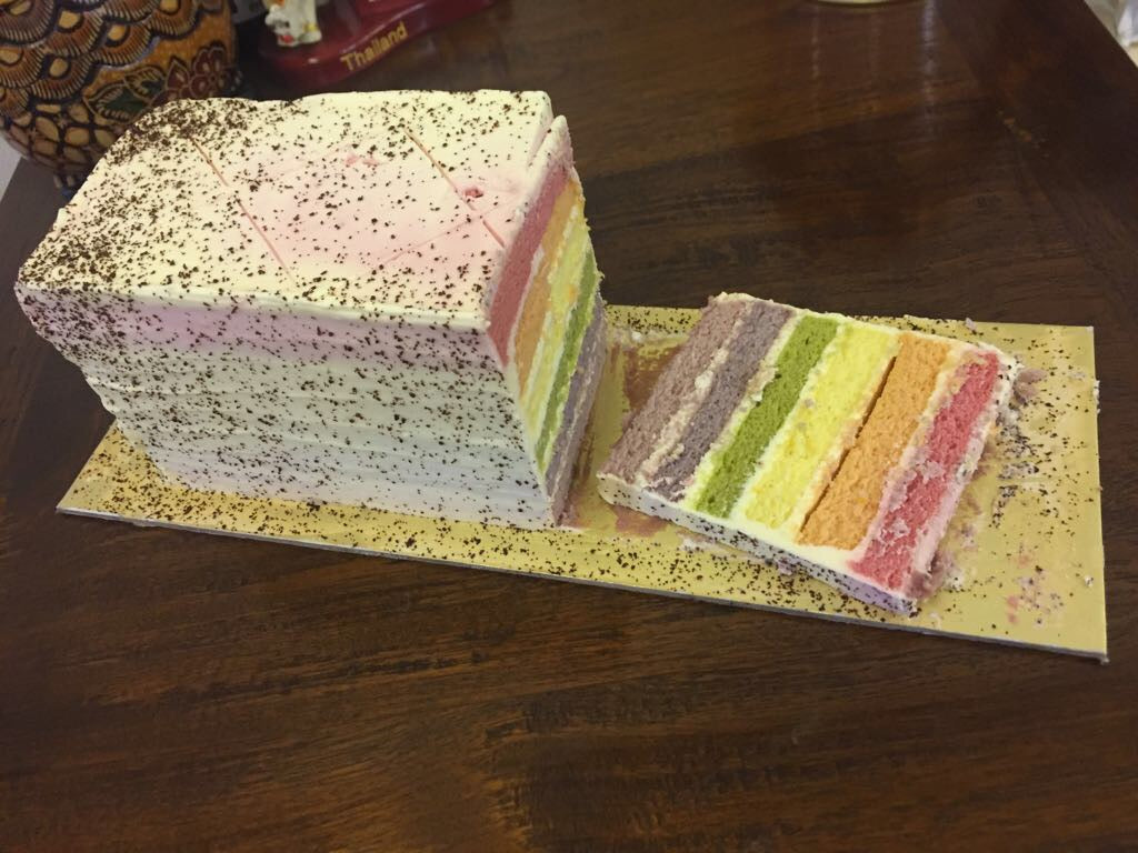 All-Natural Rainbow Cake