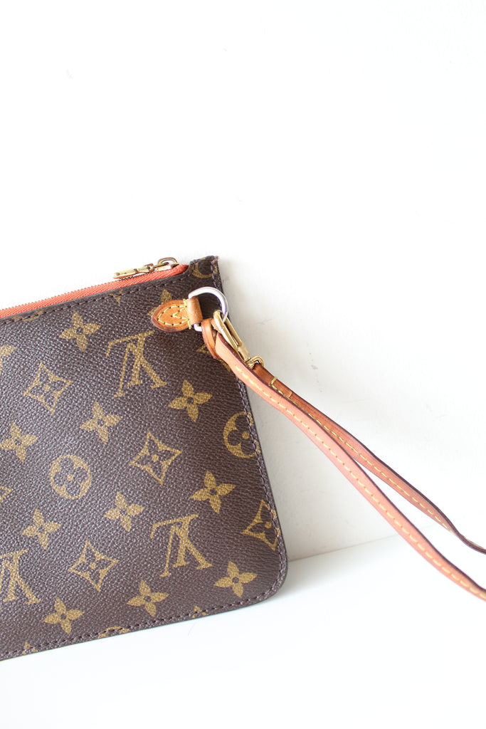Louis Vuitton Monogram Orange Wristlet