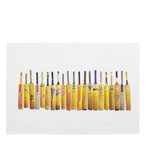Tea Towel Sporting Nation Cricket Bat Line Up